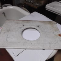 "65)Rectangle Marble Counter Top W 38"" L 24"" 11 1/2"" Hole"